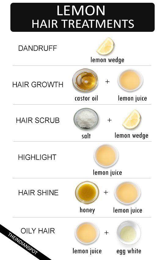 Best natural lemon hair treatments for every hair problem #HairCareTips #HairCareRoutineNatural