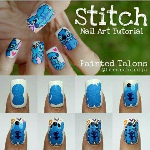 stitch nail art beauty