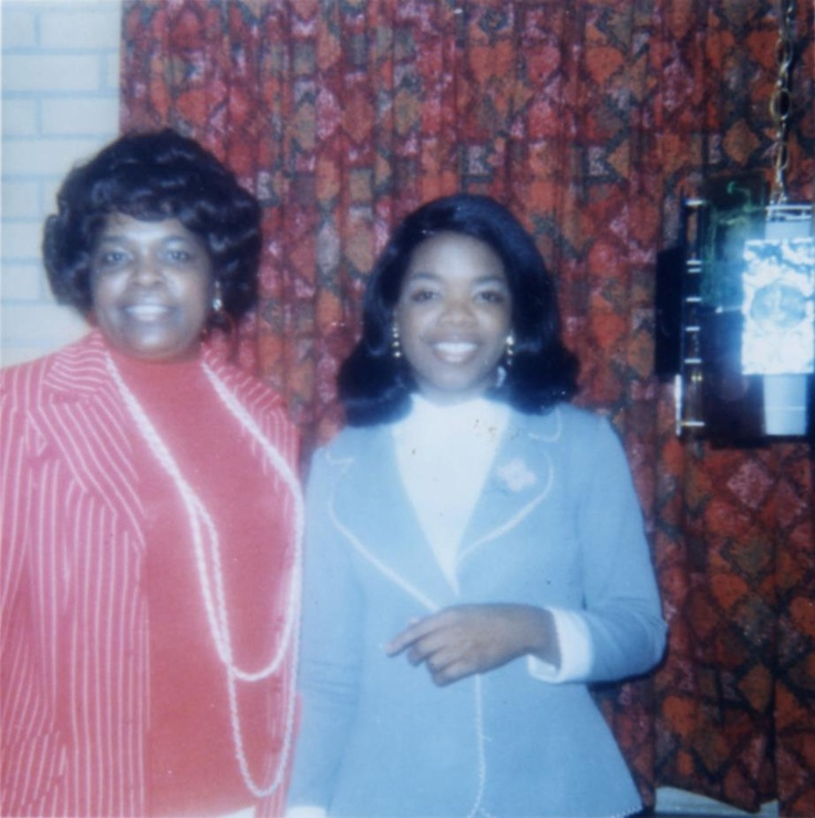 Oprah Winfrey and her mother, Vernita Lee courtesy of Orpah Winfrey