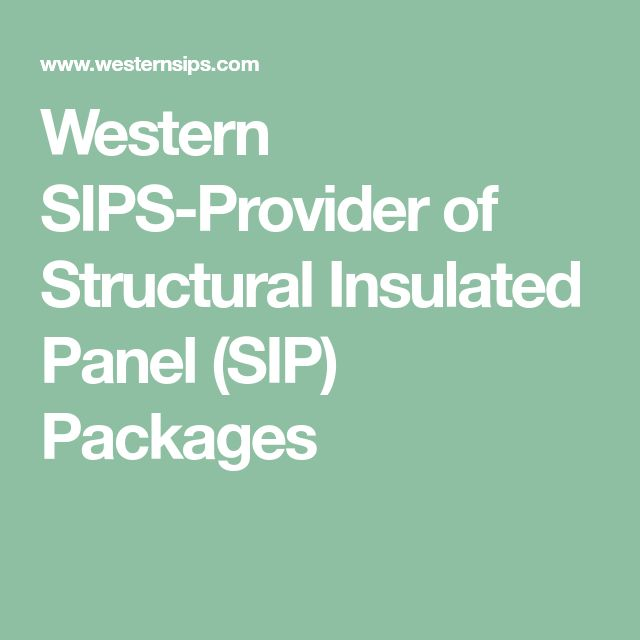 Western SIPS-Provider of Structural Insulated Panel (SIP) Packages