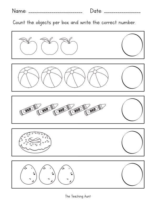 Counting Objects Worksheets With Images Tracing Worksheets