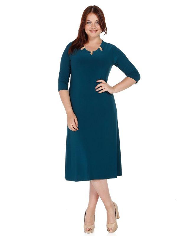 Nidya Moda - Büyük Beden Metalli Sandy Elbise-4081P