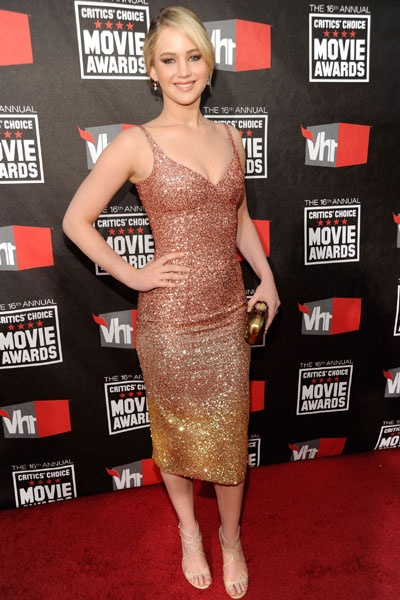 Jennifer Lawrence in L'Wren Scott at The Critics' Choice Movie Awards