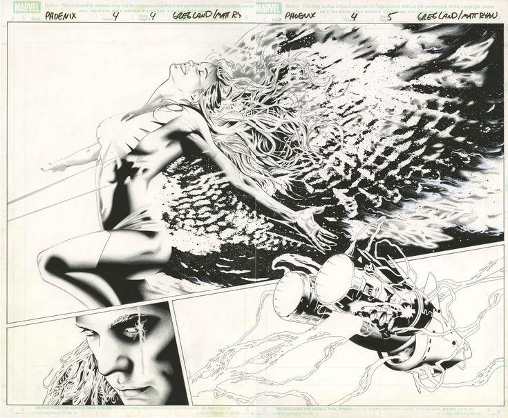 x men phoenix endsong 4 double page splash by greg land and matt ryan