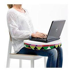 BYLLAN Laptop support, Majviken multicolor, white - Majviken multicolor/white - IKEA