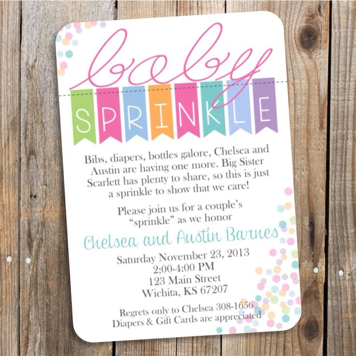 clever baby shower invitation wording%0A Baby sprinkle invitation