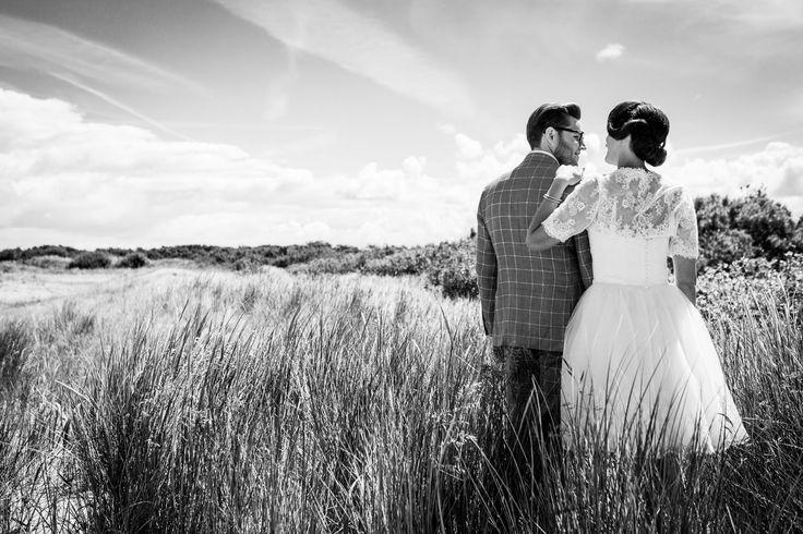 Vintage shoot | Zwart-Wit | Bruiloft