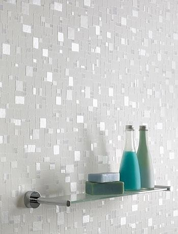 sparkly wallpaper {bathroom}