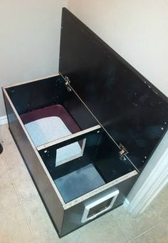 dog proof cat litter box furniture - Google Search