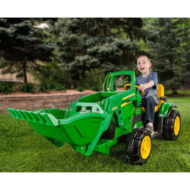 Peg Perego John Deere Ground Loader Tractor Battery Powered Riding Toy  @hayneedle