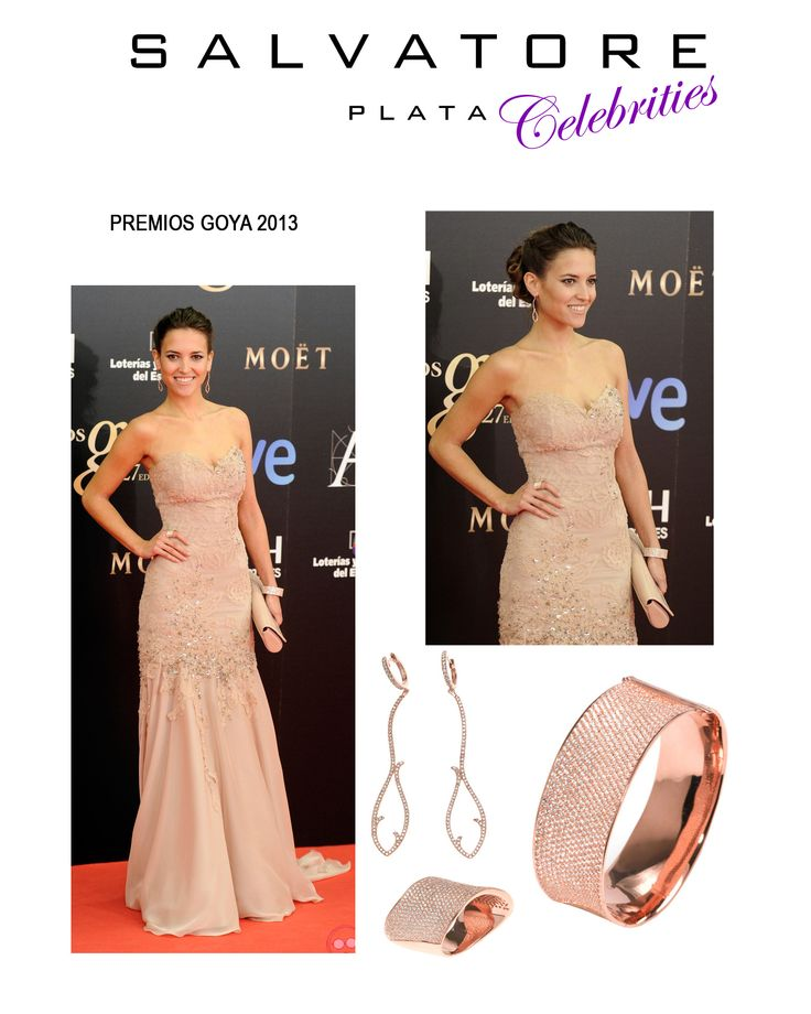 La actriz Ana Fernandez a los premios Goyas 2013, con joyas de la colección SHINNING NIGHT by Salvatore Plata. Ver más coleccion en www.salvatore.es
