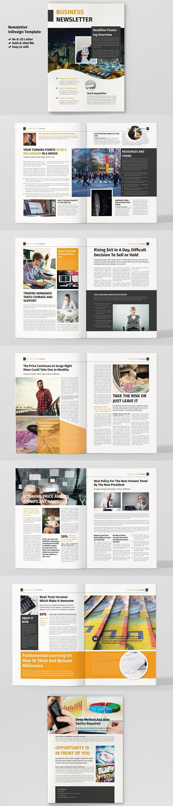 magazine newsletter template