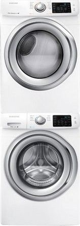 Samsung WF42H5200AW Front Load Washer & DV42H5200GW Gas Dryer w/Stacking Kit