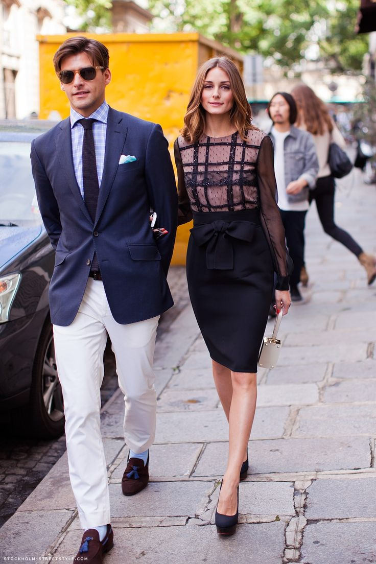Olivia PalermoJohannes Huebl, Oliviapalermo, Power Couples, Men Style, White Pants, Pencil Skirts, Olivia Palermo, Fashion Bloggers, Stylish Couple