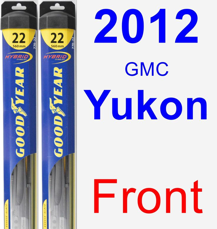 Front Wiper Blade Pack for 2012 GMC Yukon - Hybrid