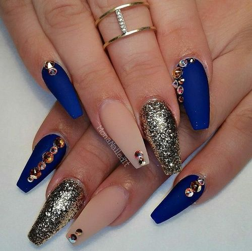 nails and blue image - Best 25+ Royal Blue Nails Ideas Only On Pinterest Royal Blue