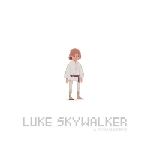 Star Wars version Pixel Art par Ryan Andrews