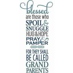 Silhouette Design Store: blessed are grandparents phrase