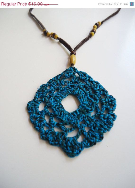 Long crochet beaded necklace multicolor necklace by AlkistiKnits #longstatementnecklace #necklace #handmade #crochetjewelry
