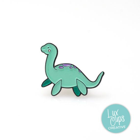 Loch Ness Enamel Pin  Soft Enamel Pin Cloisonné Nessie by LuxCups