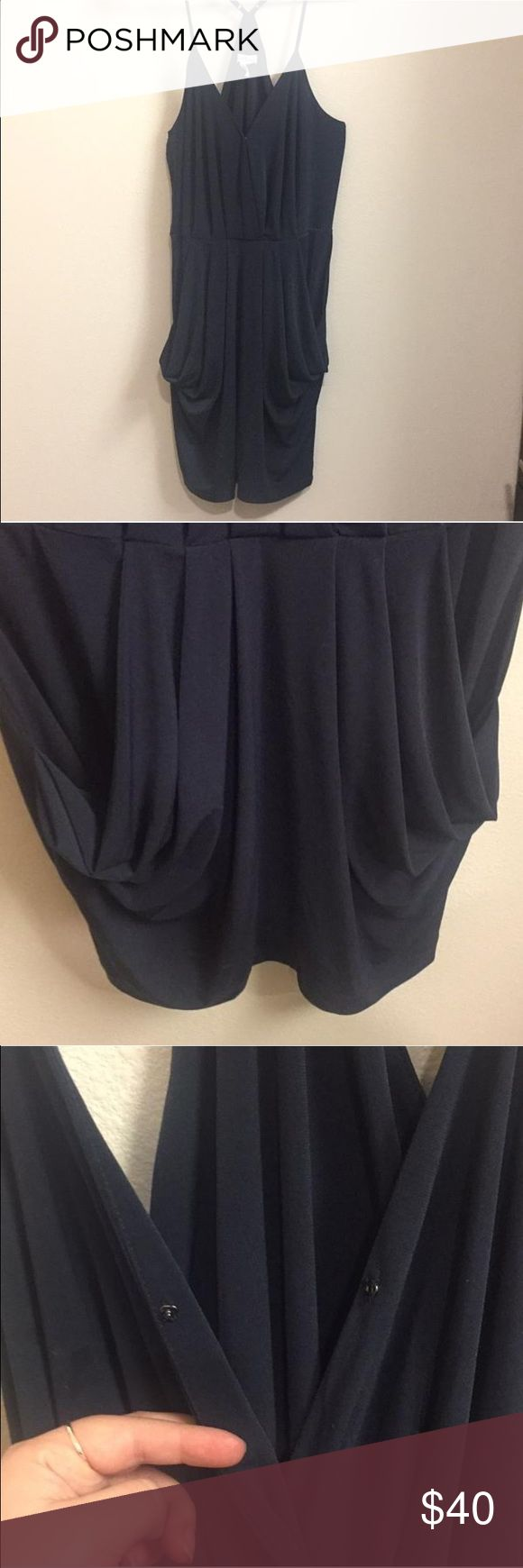 Bcbgeneration Evening Dress The perfect night-out dress//fitted with draped details//stretchy comfortable fabric//navy BCBGeneration Dresses Mini