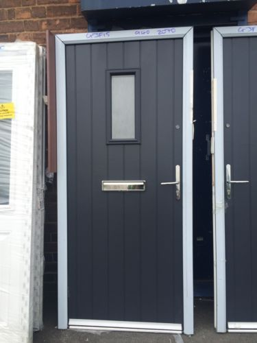 BRAND NEW Anthracite Grey Composite DOOR IN GREY UPVC FRAME 940 X 2070 Mm £449 in Home, Furniture & DIY, DIY Materials, Doors & Door Accessories | eBay