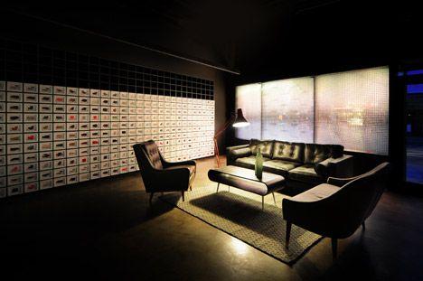 Bureau De Change Combines Furniture With Digital Projections For Second Made.com Showroom - http://decor10blog.com/decorating-ideas/bureau-de-change-combines-furniture-with-digital-projections-for-second-made-com-showroom.html