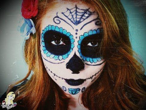 Maquiagem de Caveira Mexicana para o Halloween