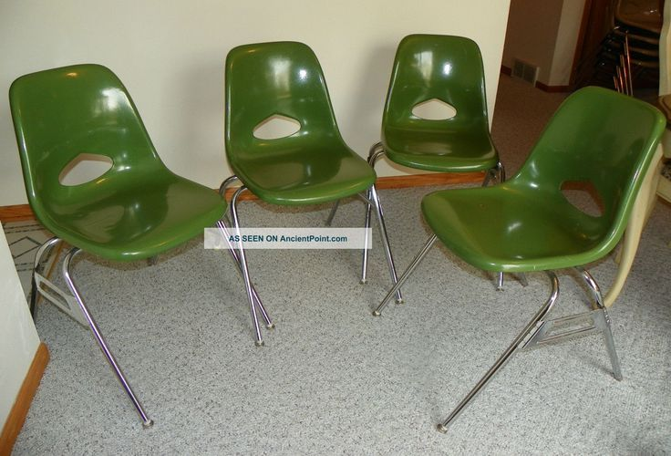 Lot Set 4 Vtg Green Krueger Fiberglass Shell Chair Retro Eames Era 60s 70s  Post 1950 Photo | CHAIR .....a Case Study. | Pinterest | Shell And Retro