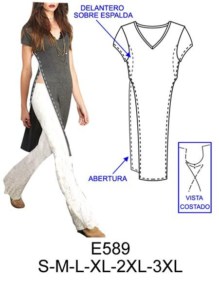 Spanish sewing pattern website.