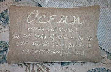 ocean theme pillows | Ocean Accent Pillow tropical bed pillows