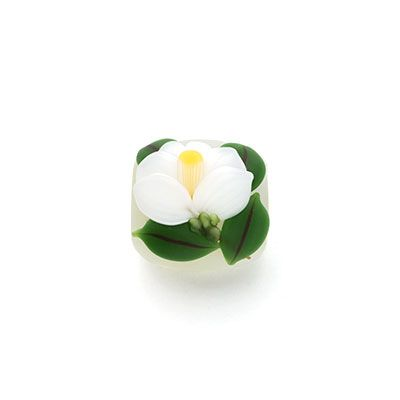 白椿 - obidome | 帯留