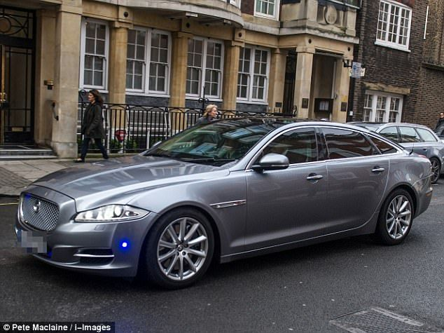 The Prime Minister's custom-made Jaguar XJ is armoured and includes bulletproof windows...