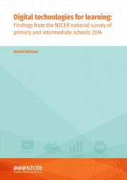 Digital technologies for learning: Findings from the NZCER national survey of primary and intermediate schools 2016. This report looks at the role of digital technologies for learning in primary and intermediate schools.
