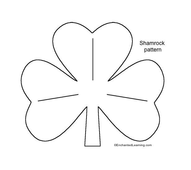 Shamrock Template shamrock chic idea shamrock coloring page page - shamrock template