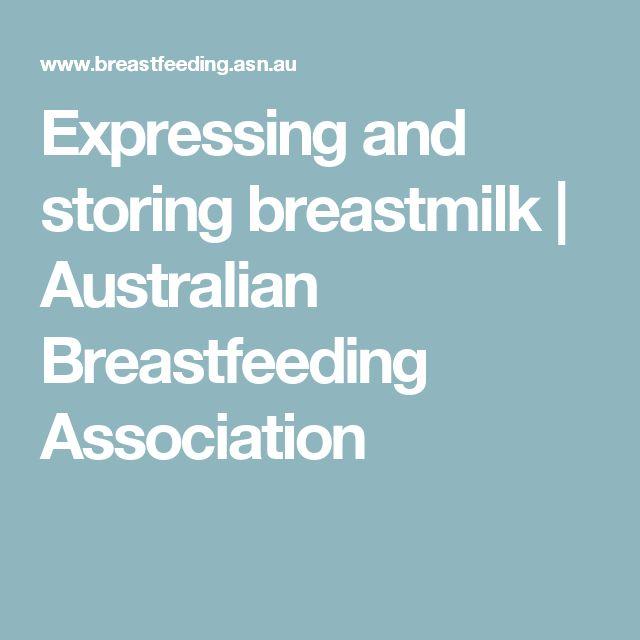 Expressing and storing breastmilk   Australian Breastfeeding Association