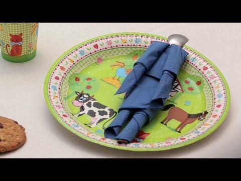 Pliage de serviette en papier- Le bonhomme - Labelleadresse.com - YouTube