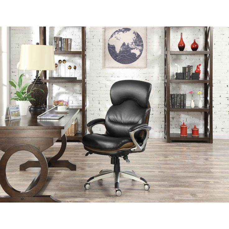 Serta Wellness by Design Executive Leather Office Chair