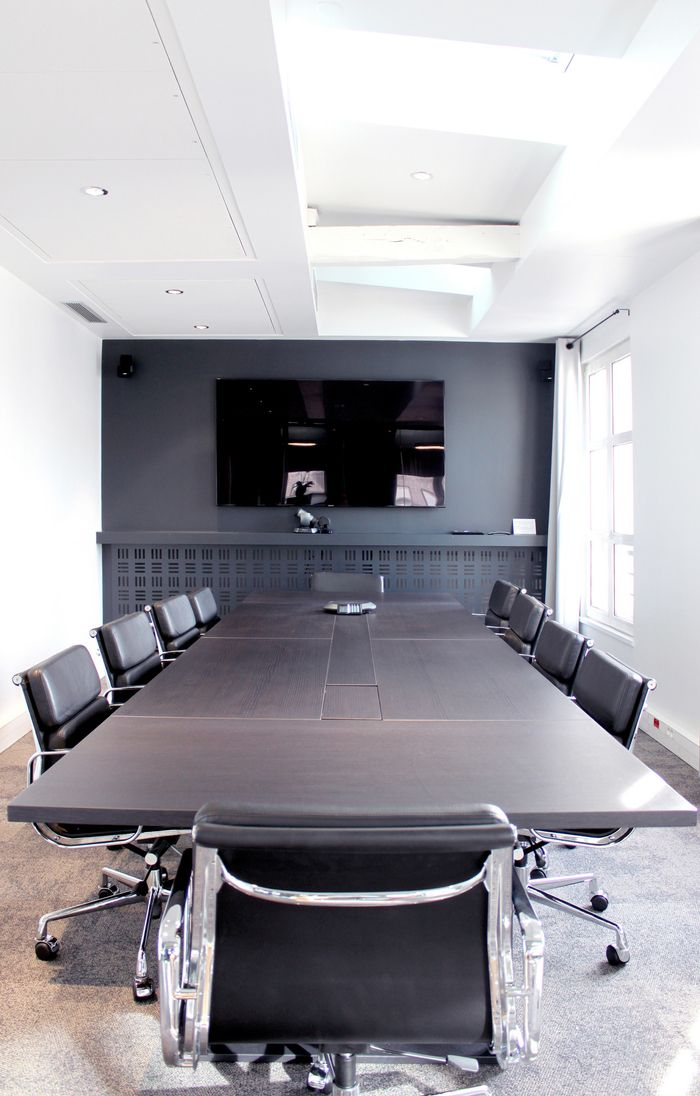 Clean and simple meeting room