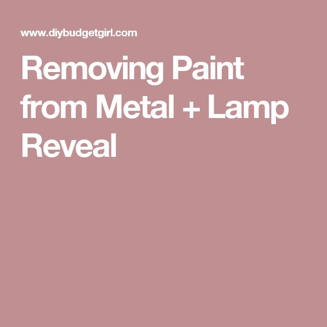 remove paint from metal on pinterest how to remove paint remove. Black Bedroom Furniture Sets. Home Design Ideas