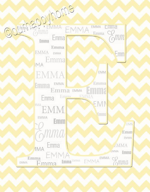 Colorful Baby Names Wall Decor Wall Letters Motif - Wall Art Design ...