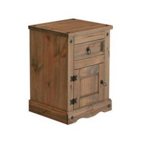 £49 Corona Mexican Pine 1 Door 1 Drawer Bedside Cabinet CR510   http://www.easyfurn.co.uk/solid-oak-furniture-Bedroom/Corona-Mexican-Pine-Bedroom/CR510-Bedside-Cabinet