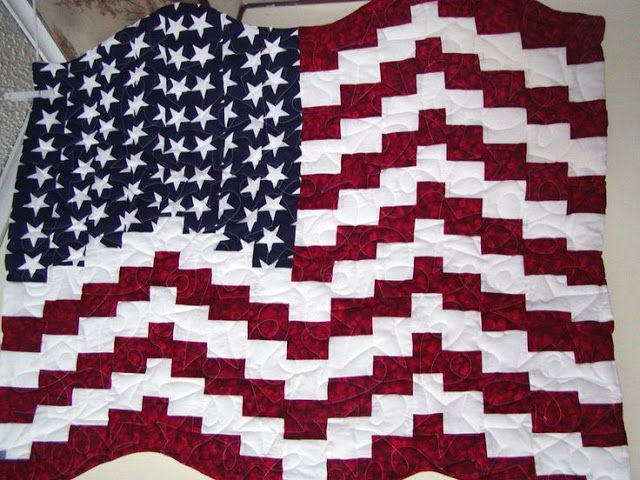 Quilt American - Pattern Quilt Available - I Love Patchwork