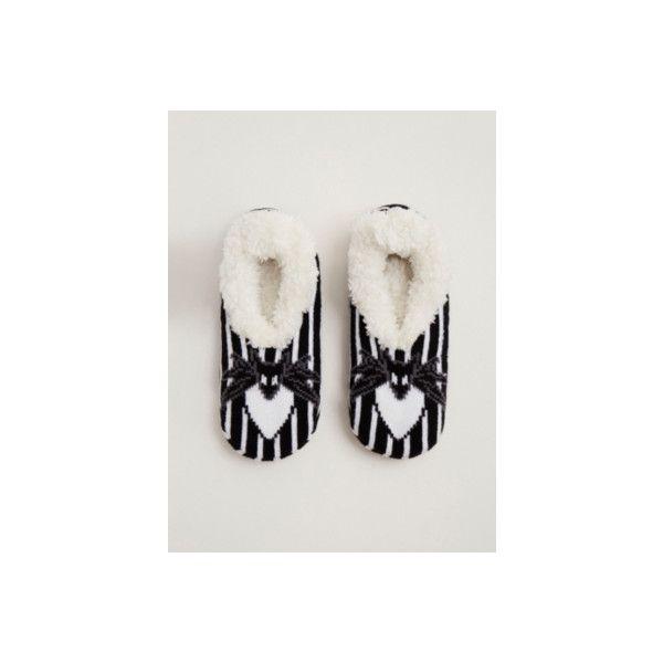 Torrid Nightmare Before Christmas Furry Slipper Socks ($10) ❤ liked on Polyvore featuring intimates, hosiery, socks, accessories, hosiery & socks, plus size, plus size hosiery, stripe socks, christmas socks and christmas hosiery