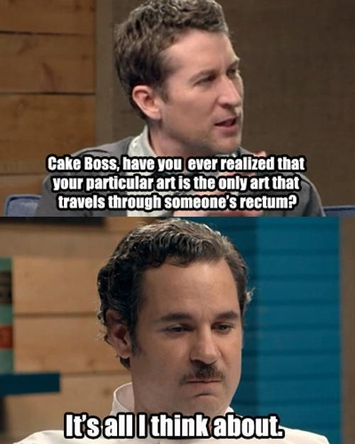 Comedy Bang! Bang! Scott Aukerman and Paul F. Tompkins as the Cake Boss
