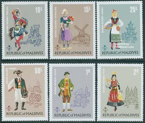 Maldives - European Costumes 1972
