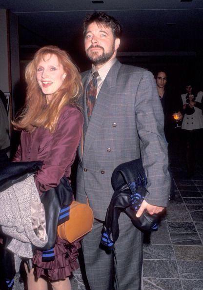 Gates McFadden and Jonathan Frakes. Beverly Crusher and William Riker