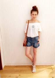 「デニムショートパンツ コーデ site:www.selectsquare.com/shop OR site:amazon.co.jp OR site:xz-closet.jp OR site:instagram.com OR site:pinterest.com」の画像検索結果