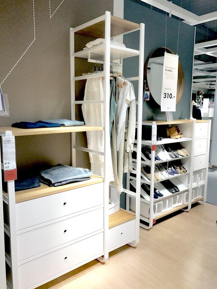 Lovely Ikea Elvarli begebarer Kleiderschrank Ankleidezimmer