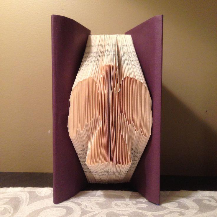 Angel, Christmas, Folded Book Art, Mini Shadow Book by MoonShadowBooks on Etsy